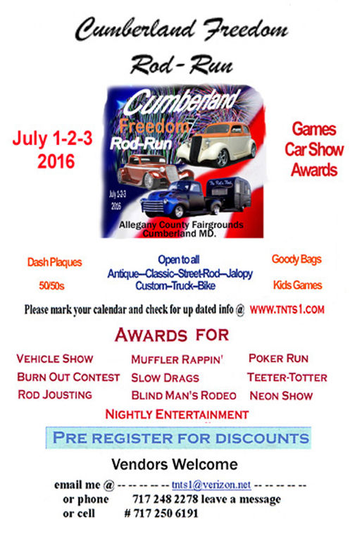 2016 Cumberland Freedom Rod Run July 1-2-3 2016