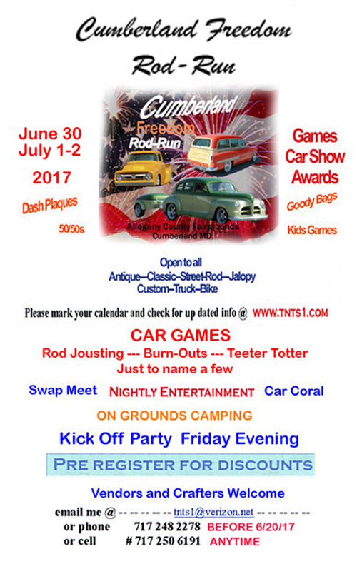 2017 Cumberland Freedom Rod Run June 30 to July 2 Flyer